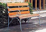 Кованая скамья со спинкой