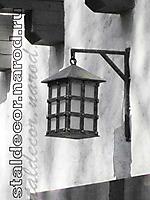 Кованый садовый фонарь