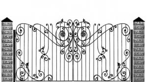 Кованые ворота 090