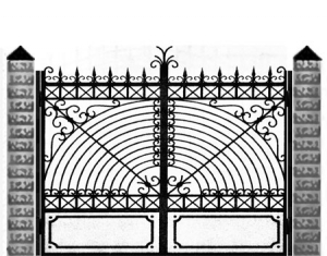 Кованые ворота 042