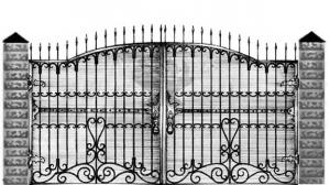 Кованые ворота 092