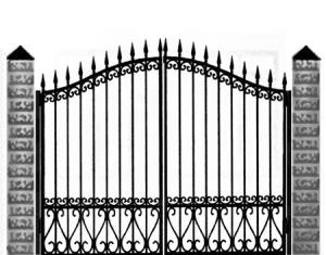 Кованые ворота 036
