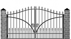 Кованые ворота 058