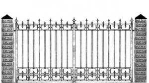 Кованые ворота 061
