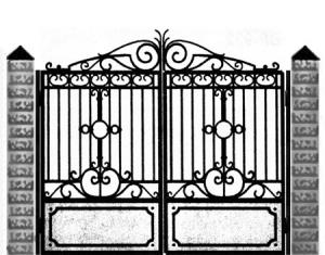 Кованые ворота 044