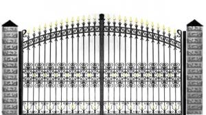 Кованые ворота 110