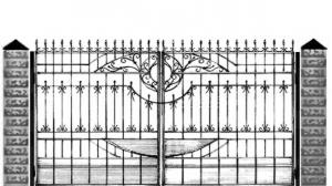 Кованые ворота 108