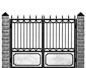 Кованые ворота 011