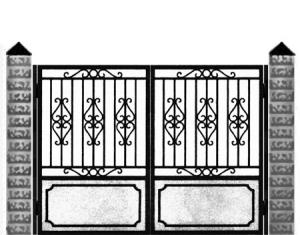 Кованые ворота 015