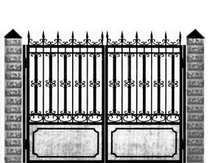 Кованые ворота 019
