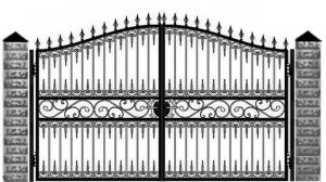 Кованые ворота 111