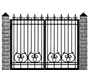 Кованые ворота 028