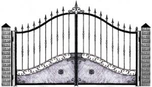 Кованые ворота 057