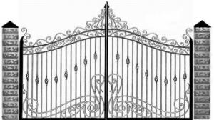 Кованые ворота 074