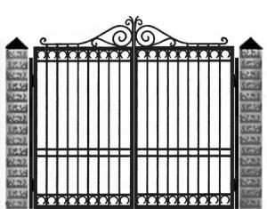 Кованые ворота 030