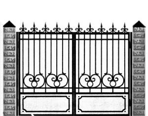Кованые ворота 027