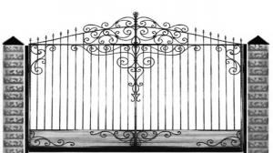 Кованые ворота 091