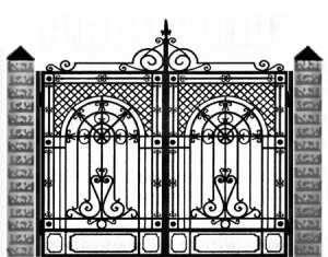 Кованые ворота 047