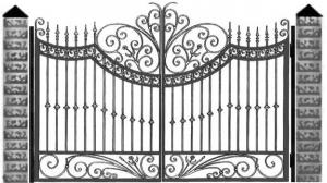 Кованые ворота 102