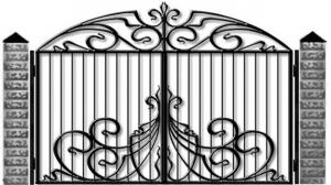 Кованые ворота 094