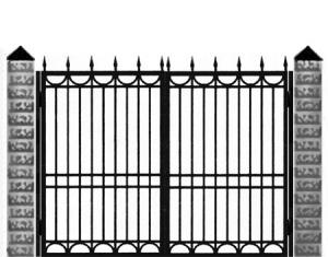 Кованые ворота 012