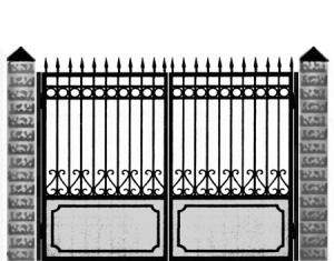 Кованые ворота 025