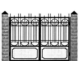 Кованые ворота 022