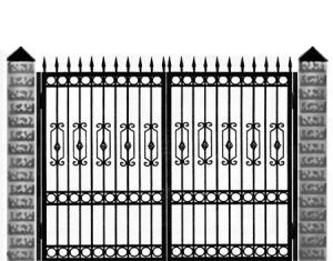 Кованые ворота 004