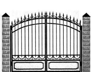 Кованые ворота 033