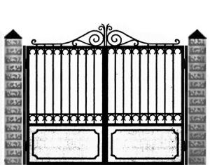 Кованые ворота 029