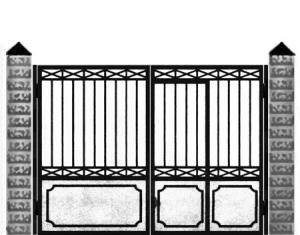 Кованые ворота 009