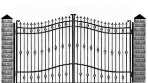 Кованые ворота 067