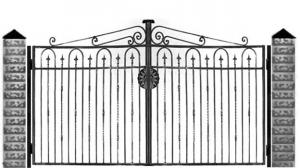 Кованые ворота 054