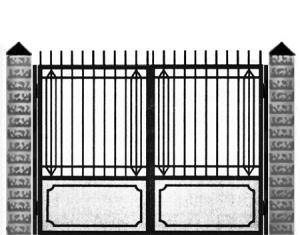 Кованые ворота 001