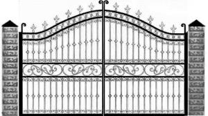 Кованые ворота 073