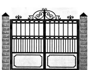 Кованые ворота 031