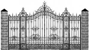 Кованые ворота 121