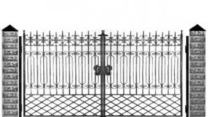 Кованые ворота 079