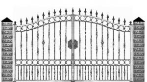 Кованые ворота 064