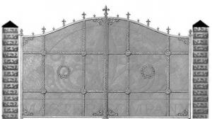 Кованые ворота 087