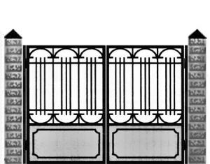Кованые ворота 021