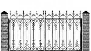 Кованые ворота 077