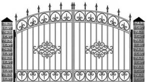 Кованые ворота 065