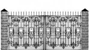 Кованые ворота 089