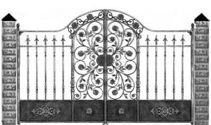 Кованые ворота 084