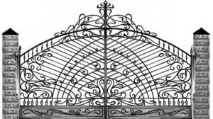 Кованые ворота 116