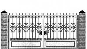 Кованые ворота 060