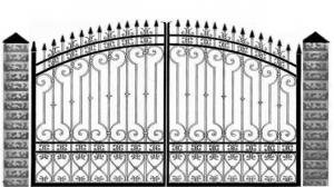 Кованые ворота 081